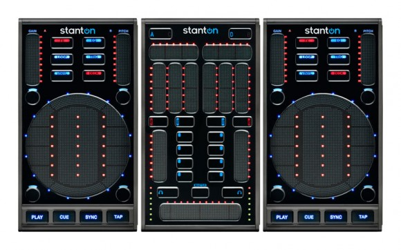 The SC System 3 combines 2 SCS3.d 'DaScratch' Midi decks and an SCS.3m Midi mixer.
