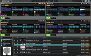 Four remix decks Traktor Pro 2.5