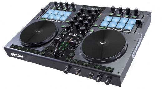 Gemini's G2V is a steel-contructed, large-jogwheeled, well specified two-channel controller for Virtual DJ.