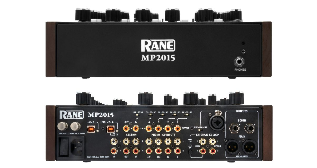 Rane MP2015 Front and Back