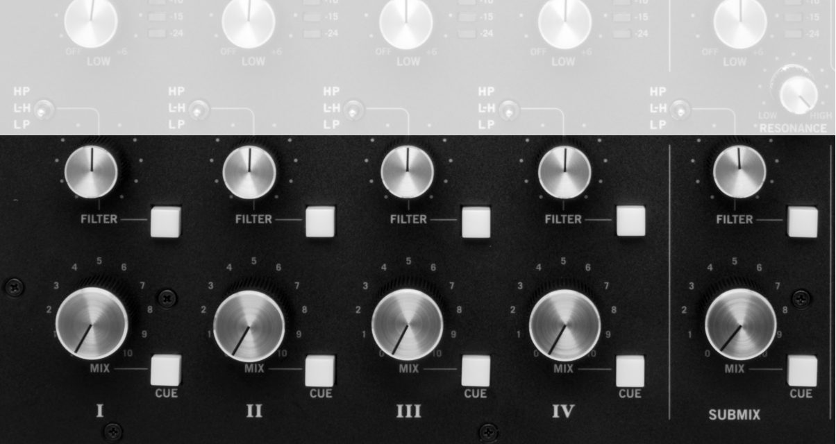 Rane MP2015 volume and sub mix