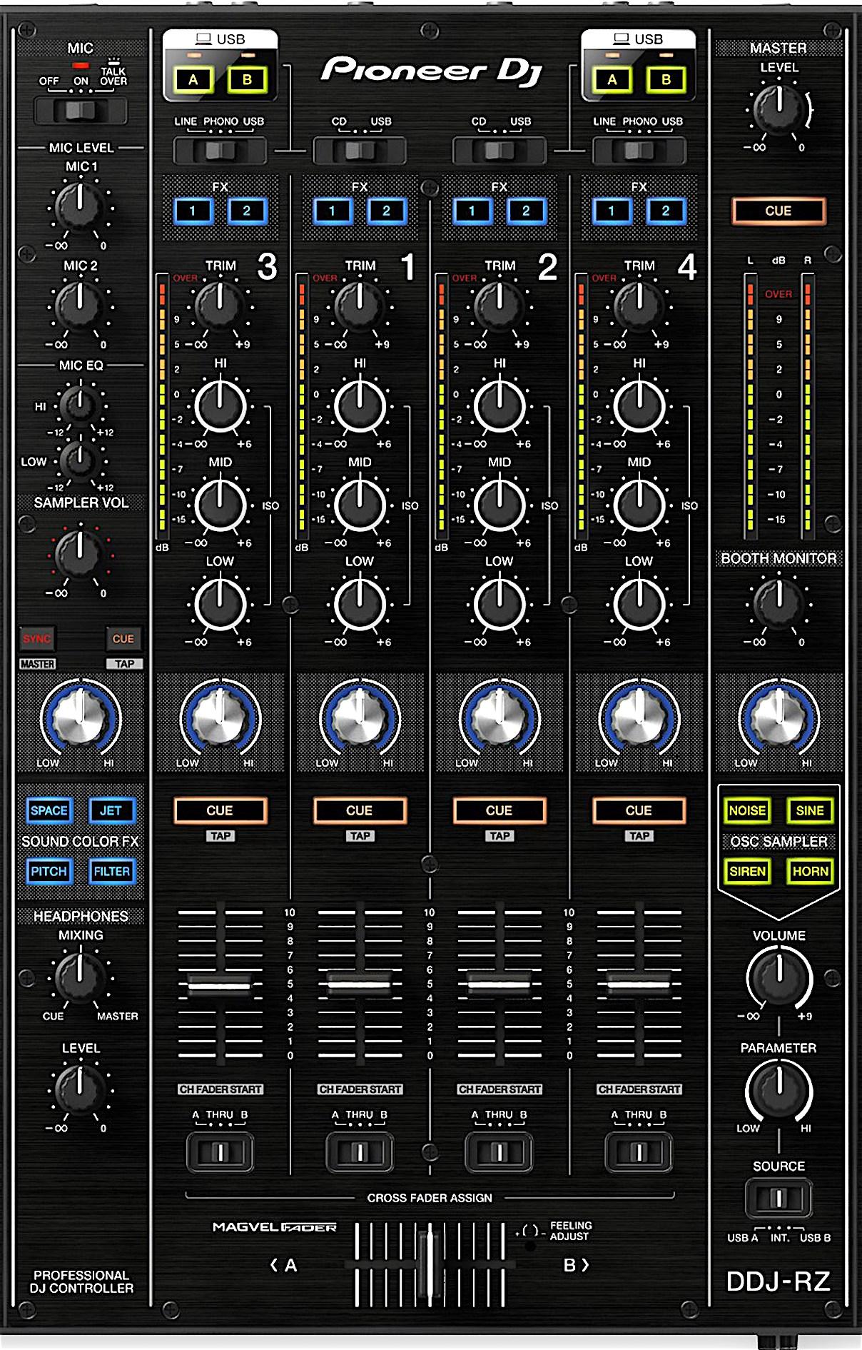 DDJ-RZ mixer