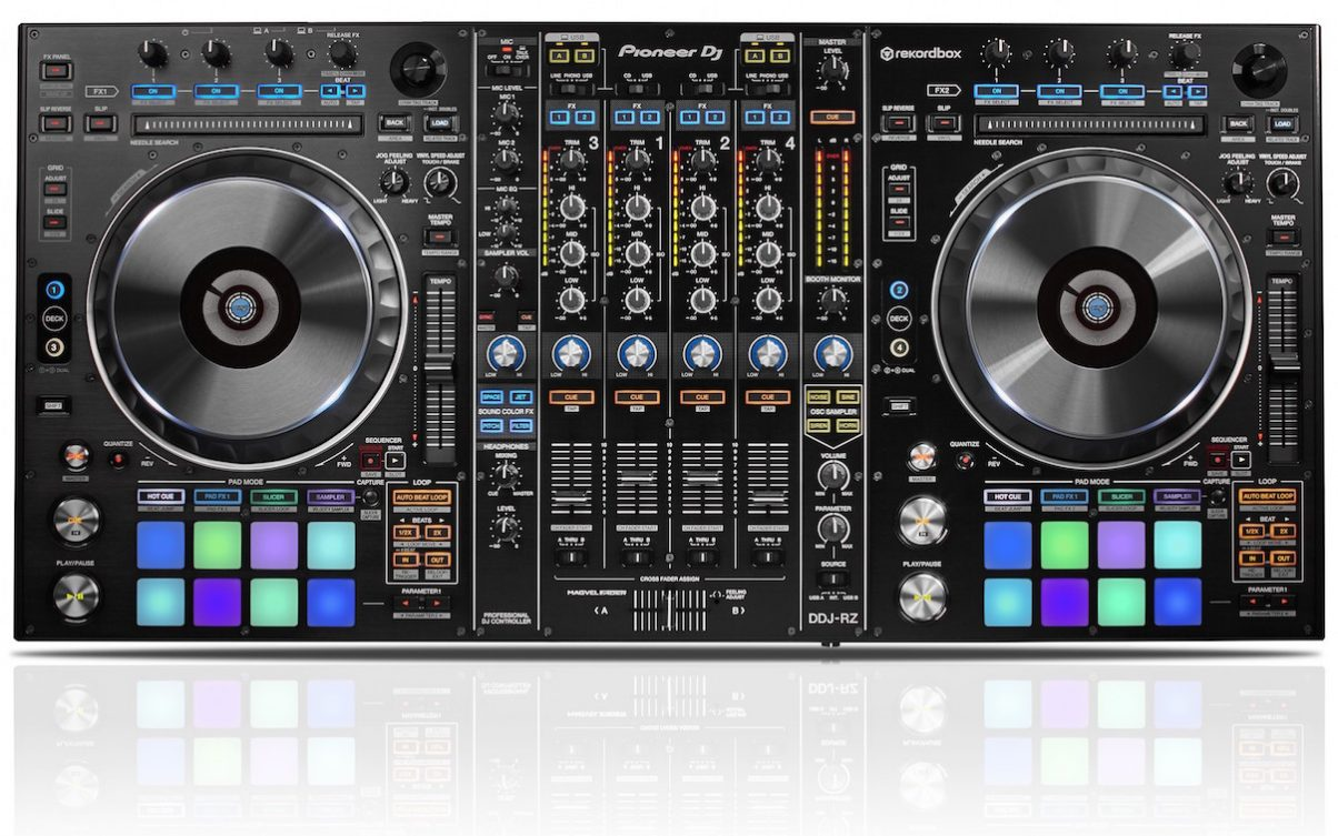 The DDJ-RZ offers one of the most comprehensive control surfaces of any DJ controller, getting close and in some ways surpassing that in even the best pro DJ booths.