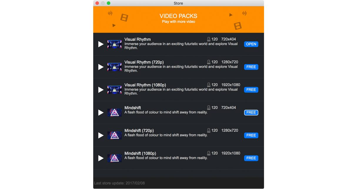 The Remixvideo store offers video clip pack downloads that you can get, both free and paid.